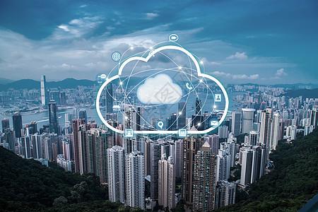 城市上的科技云图片