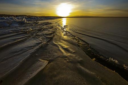 冬季青海湖图片