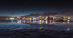 钱江新城夜景城市美景图片