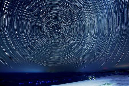 青海湖星轨图片