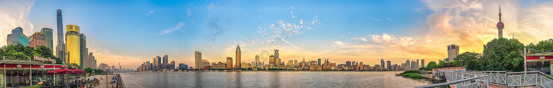 日出时分的浦江两岸(360度环绕)图片