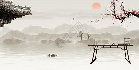 中国传统文化背景图片