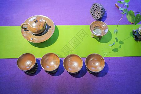 精美陶艺茶具图片