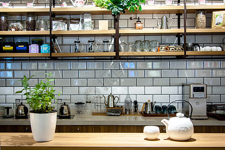 清新的咖啡小店图片