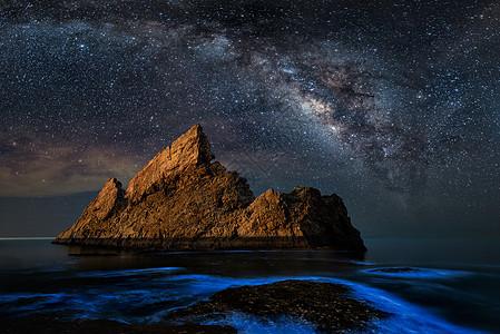 阳光海岸上空的银河图片