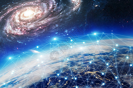 科技感地球线条图片
