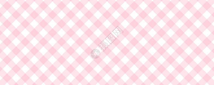 小清新粉色格子背景图片