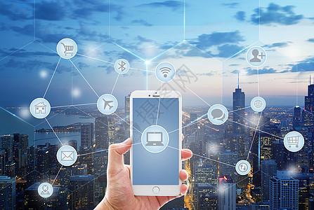 商务手机云购物消费信息图片