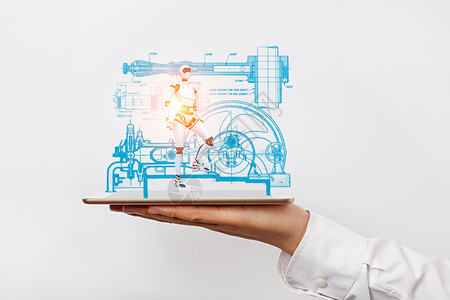 平板投影虚拟机器人图片
