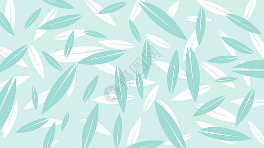 小清新叶子背景图片