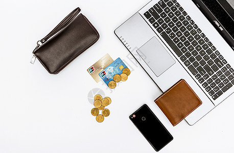 现代金融商务俯拍图片