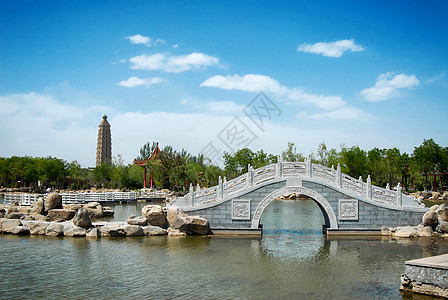 宁夏银川北塔公园风景图片