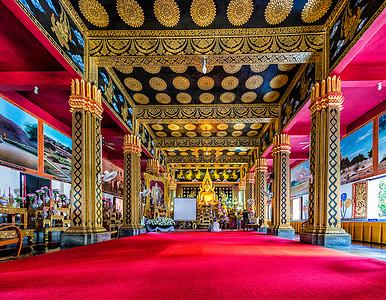 清迈寺庙内部图片