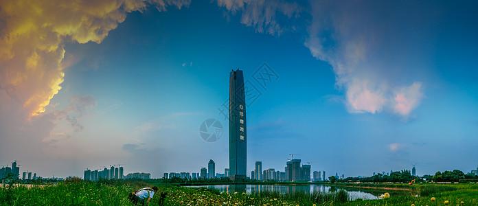 武汉城市风光武汉中央商务区CBD图片