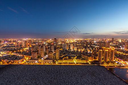 天津建筑城市夜景图片
