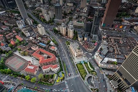 天津建筑城市风光航拍图片
