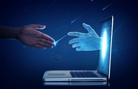 科幻商务合作科技感图片