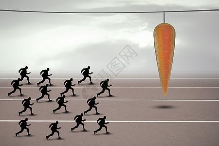 人们向着诱惑奔跑图片