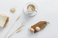 早餐燕麦面包图片
