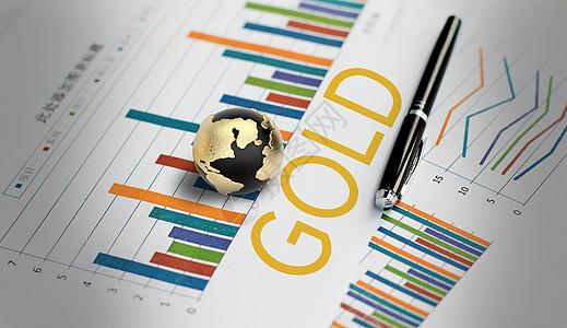 黄金数据分析报表图片
