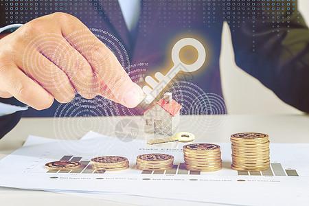 金融理财钥匙图片