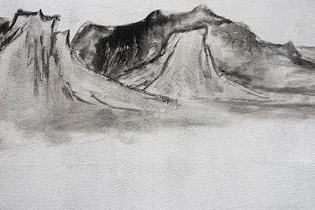 水墨中国风传统艺术简约背景图片