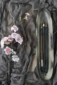 水墨书法中国风的背景素材图片