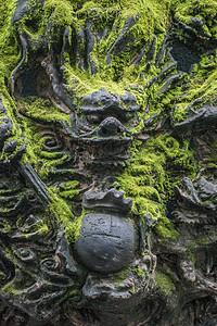 中国风根雕龙艺术图片