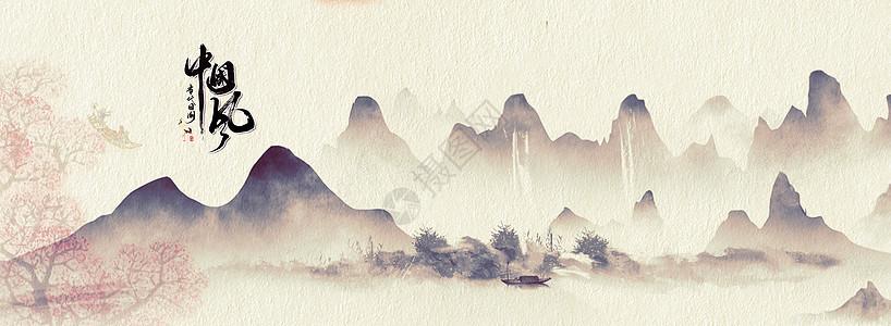 中国风花卉飞鸟图图片