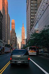 美国城市街道图片