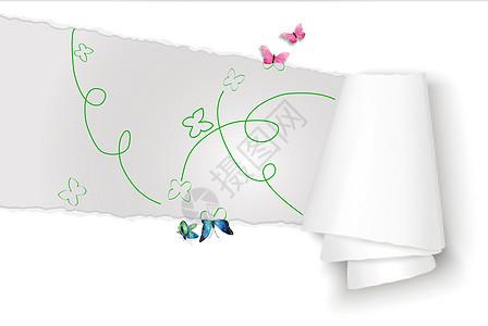 跃然纸上的蝴蝶图片
