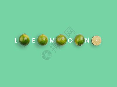 简约青柠檬图片
