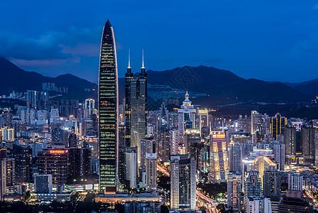 深圳地标建筑城市夜景风光图片