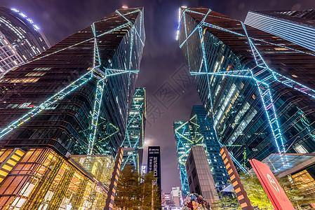 仰视城市高楼图片