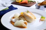 法国菜香煎银鳕鱼图片