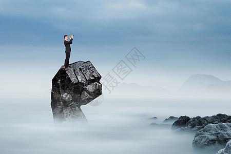 拳头上的成功人士图片