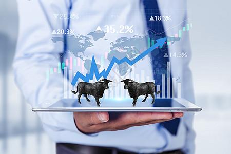 商务股票牛市图片