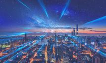 夜晚繁荣科技城市图片