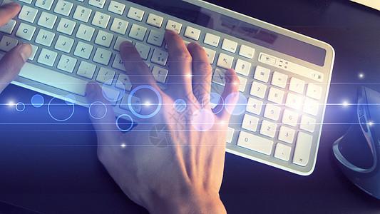 科技感键盘打字图片