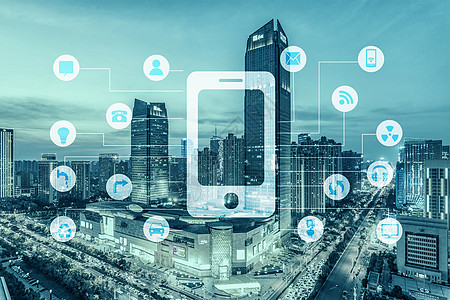 未来城市智能电子图片