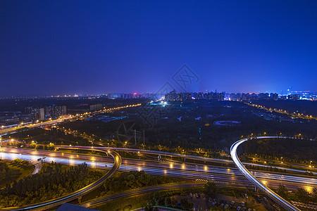 夜景城市的桥图片