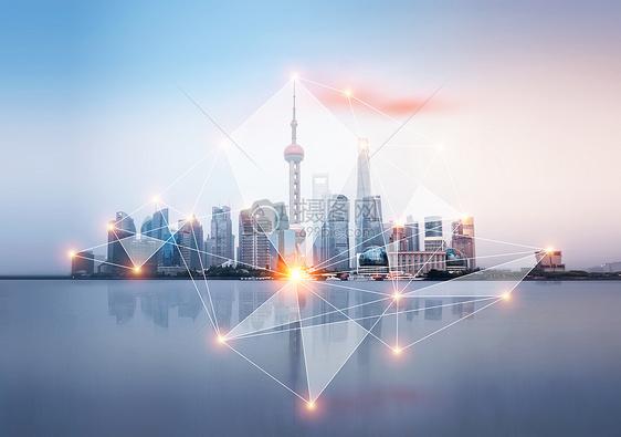 上海城市大数据概念图片