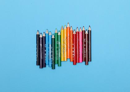 彩色铅笔创意造型摄影图片