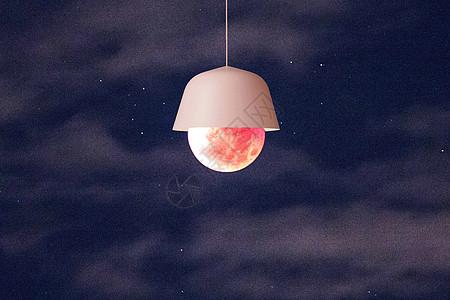 月亮灯泡图片