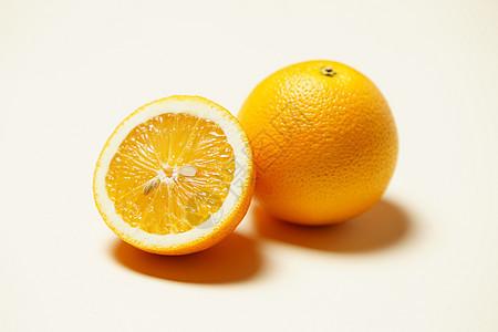 切开的橙子素材图片