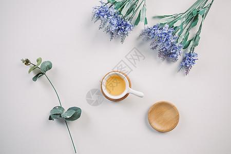清新花茶背景图图片