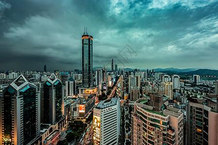 电影胶片感的深圳城市夜景图片