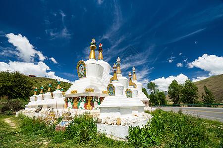 四川甘孜县藏式建筑图片