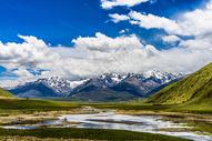 四川甘孜317国道风景图片