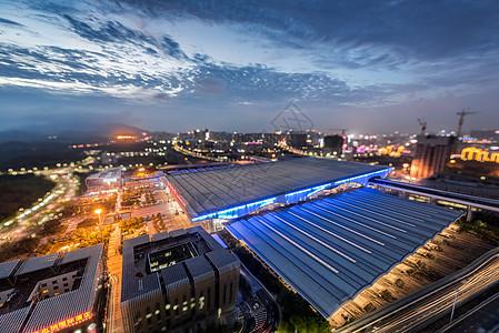 蓝调的深圳北站高铁站图片